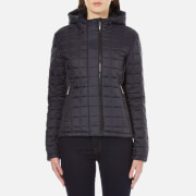 Superdry Women's Hooded Box Quilt Fuji Jacket - New Navy