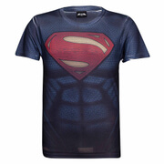 DC Comics Mens Superman Muscle T-Shirt - Blue