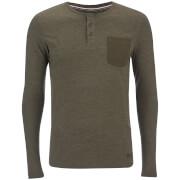 Produkt Men's Contrast Pocket Long Sleeve Top - Forest Night Melange