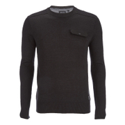 Brave Soul Men's Persian Pocket Jumper - Charcoal Marl