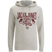 Jack & Jones Men's Originals Oskar Hoody - Treated White