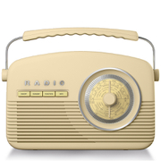 Akai A60010CDAB DAB Retro Radio - Cream