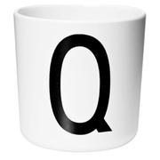 Design Letters Kids' Collection Melamin Cup - White - Q