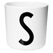 Design Letters Kids' Collection Melamin Cup - White - S