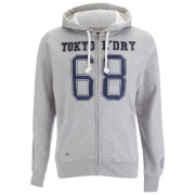 Tokyo Laundry Men's Goodlow Zip Through Hoody - Light Grey Marl