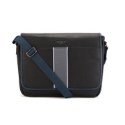 Ted Baker Men's Webster Striped Webbing Messenger Bag - Black