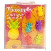 Pineapple Wine Charms and Stopper Set