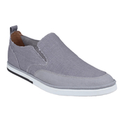 Rockport Men's Weekend Style Leather Slip On Trainers - Grey
