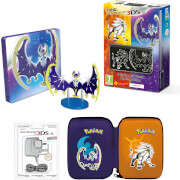 New Nintendo 3DS XL Solgaleo and Lunala Limited Edition + Pokémon Moon Steelbook Pack