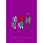 Back to the Future Costume Art Print - 14 x 11
