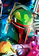Star Wars Boba Fett Inspired Illustrative Fine Art Print - 16.5 x 11.7