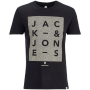 Jack & Jones Men's Core Paris Print T-Shirt - Black