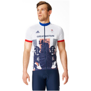 adidas Men's Team GB Replica Cycling Short Sleeve Jersey - White