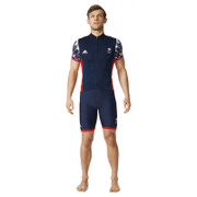 adidas Men's Team GB Replica Training Cycling Short Sleeve Jersey - Blue