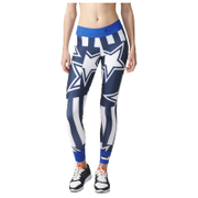 adidas Women's Stella Sport Print Training Tights - Blue/White