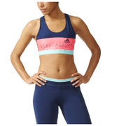 adidas Women's Stella Sport Padded Training Sports Bra - Blue/Pink