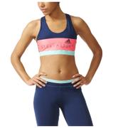 adidas Women's Stella Sport Padded Training Sports Bra - Blue/Pink