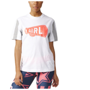 adidas Women's Stella Sport Hey Girl Training T-Shirt - White