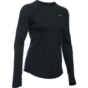 Under Armour Women's ColdGear Armour Crew Long Sleeve Shirt - Black