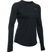 Under Armour Women's ColdGear Armour Crew Long Sleeve Shirt - Black