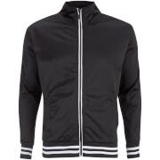 Brave Soul Men's Vintage Zip Through Tricot Jacket - Black