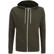 Brave Soul Men's Adrian Zip Through Hoody - Khaki
