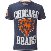 NFL Men's Chicago Bears Logo Slim Fit T-Shirt - Navy