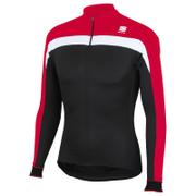 Sportful Pista Thermal Long Sleeve Jersey - Black/Red