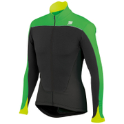 Sportful Force Thermal Long Sleeve Jersey - Black/Green