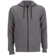 Dissident Men's Dryden Quilted Zip Through Hoody - Charcoal