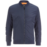 Smith & Jones Men's Mausoleum Zip Bomber Jacket - Navy Blazer