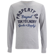 Tokyo Laundry Men's Rowe Creek Long Sleeve Top - Light Grey Marl