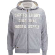 Tokyo Laundry Men's Amber Valley Zip Through Hooded Jacket - Mid Grey Marl