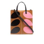 Orla Kiely Women's Stem Print Leather Laurel Tote Bag - Hazel