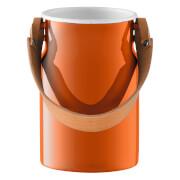 LSA Utility Utensil Pot & Leather Handle - 29cm - Pumpkin Orange