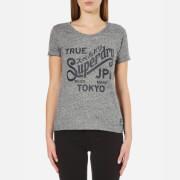 Superdry Women's Keep It T-Shirt - Grey Marl/Black/Snowy