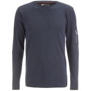 Dissident Men's Astin Zip Detail Long Sleeve Top - Blue/Black