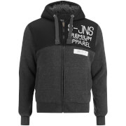 Smith & Jones Men's Enfilde Zip Through Hoody Jacket - Black Marl