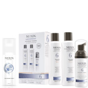 Nioxin Hair System Kit 6 and Thickening Spray Bundle