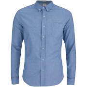 Crosshatch Men's Almond Long Sleeve Shirt - Sky Blue