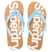 Superdry Women's Cork Flip Flops - Eagle Blue/Baby Blue