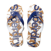 Superdry Men's Printed Cork Flip Flops - Cork/Navy
