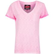 Superdry Women's Vintage Dye T-Shirt - Fluro Pink