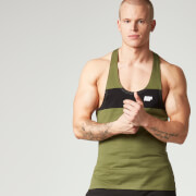 Myprotein Heren Core Stripe Stringer Top - Khaki