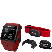 Polar V800 GPS Sports Watch Combo with Heart Rate Monitor - Red