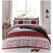 Catherine Lansfield Oriental Birds Bedding Set - Spice