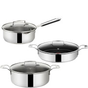 Jamie Oliver by Tefal Stainless Steel 3 Piece Pan Set
