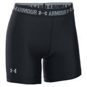 Under Armour Women's HeatGear Armour 5 Inch Middy Shorts - Black