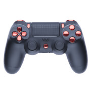 Playstation 4 Custom Controller - Matte Black & Chrome Red