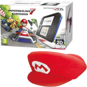 Nintendo 2DS Blue/Black + Mario Kart 7 + Mario Hat